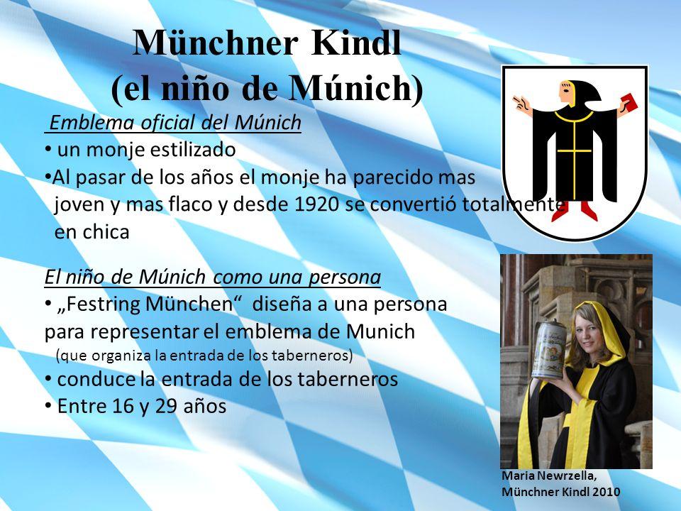 Münchner Kindl (el niño de Múnich) Emblema oficial del Múnich un monje estilizado Al pasar de los años el monje ha parecido mas joven y mas flaco y de