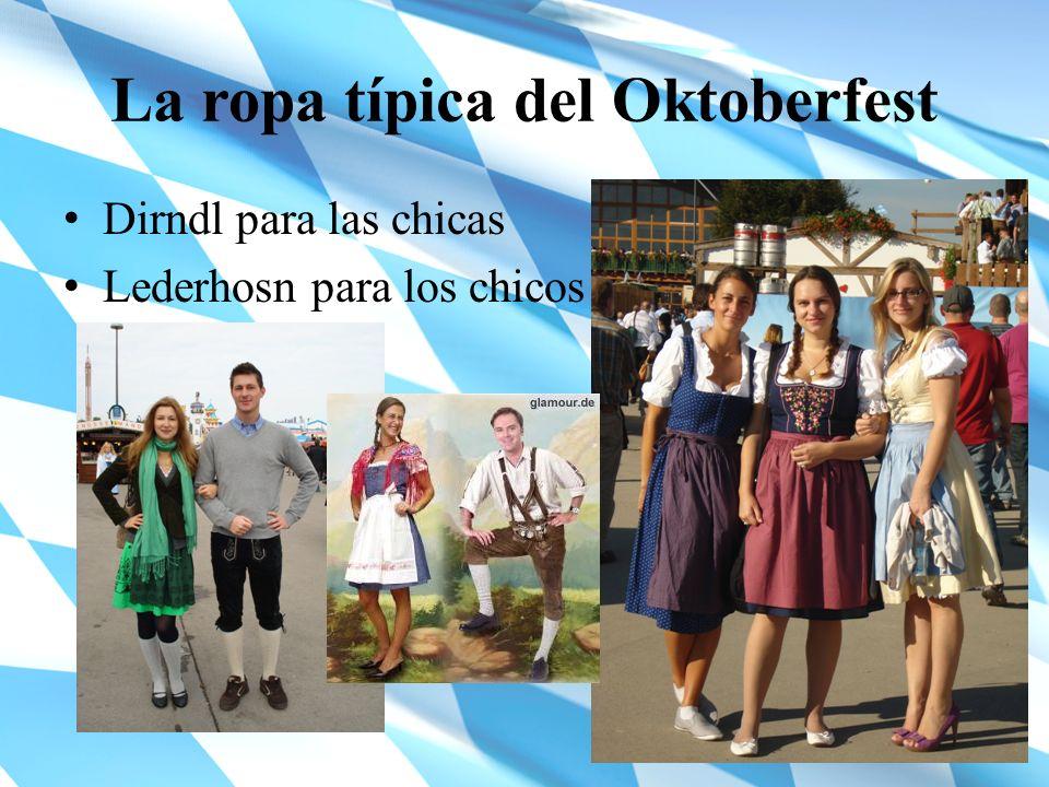 La ropa típica del Oktoberfest Dirndl para las chicas Lederhosn para los chicos