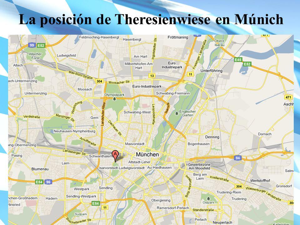 La posición de Theresienwiese en Múnich