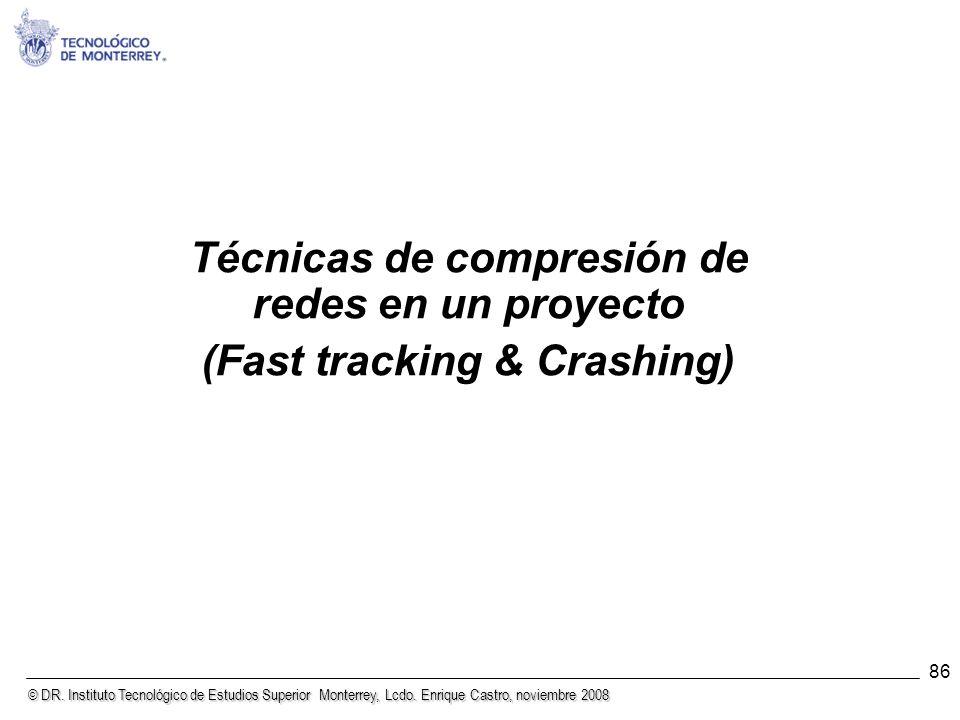 © DR. Instituto Tecnológico de Estudios Superior Monterrey, Lcdo. Enrique Castro, noviembre 2008 86 Técnicas de compresión de redes en un proyecto (Fa