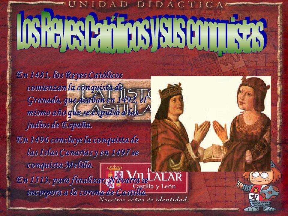 Cuando Enrique IV muere, Isabel, se autoproclamó reina de Castilla en Segovia, en 1474. Esto dio comienzo a una guerra civil que acabó ganando cinco a