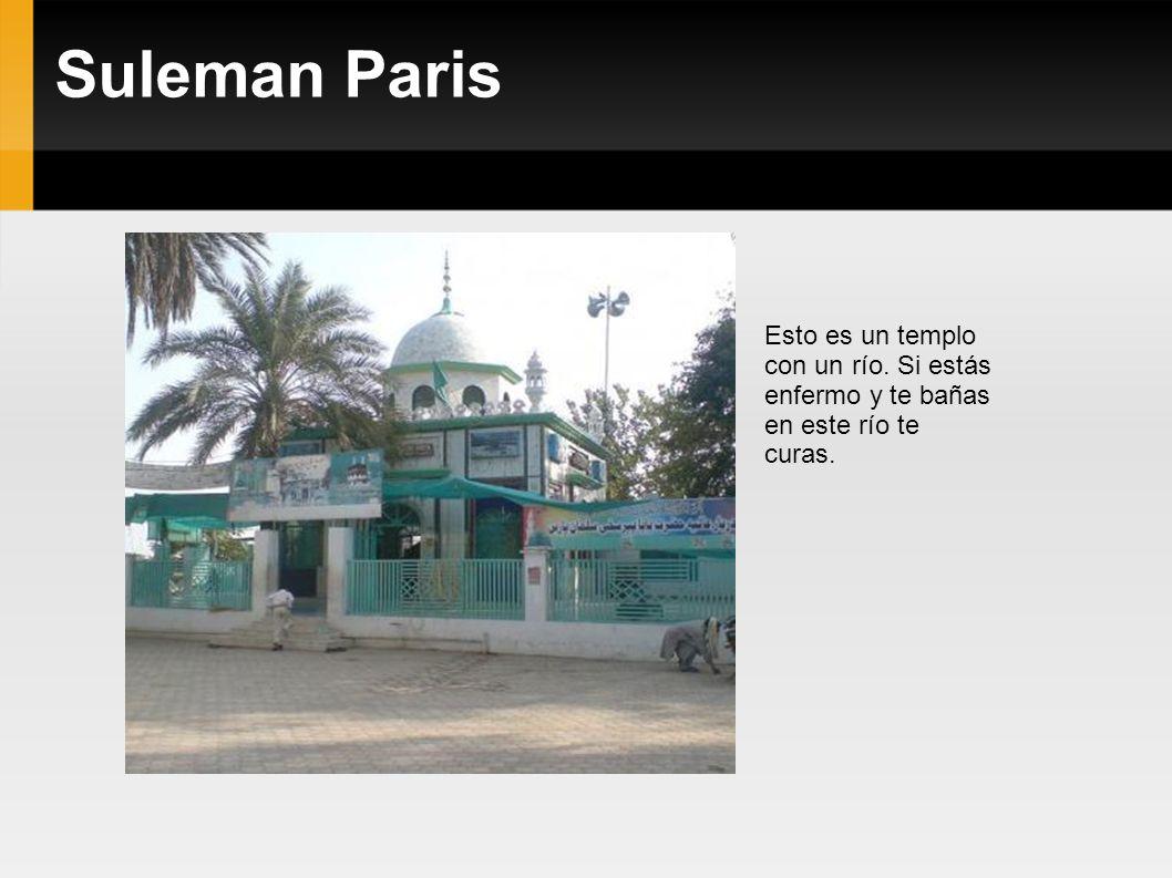 Suleman Paris Esto es un templo con un río. Si estás enfermo y te bañas en este río te curas.