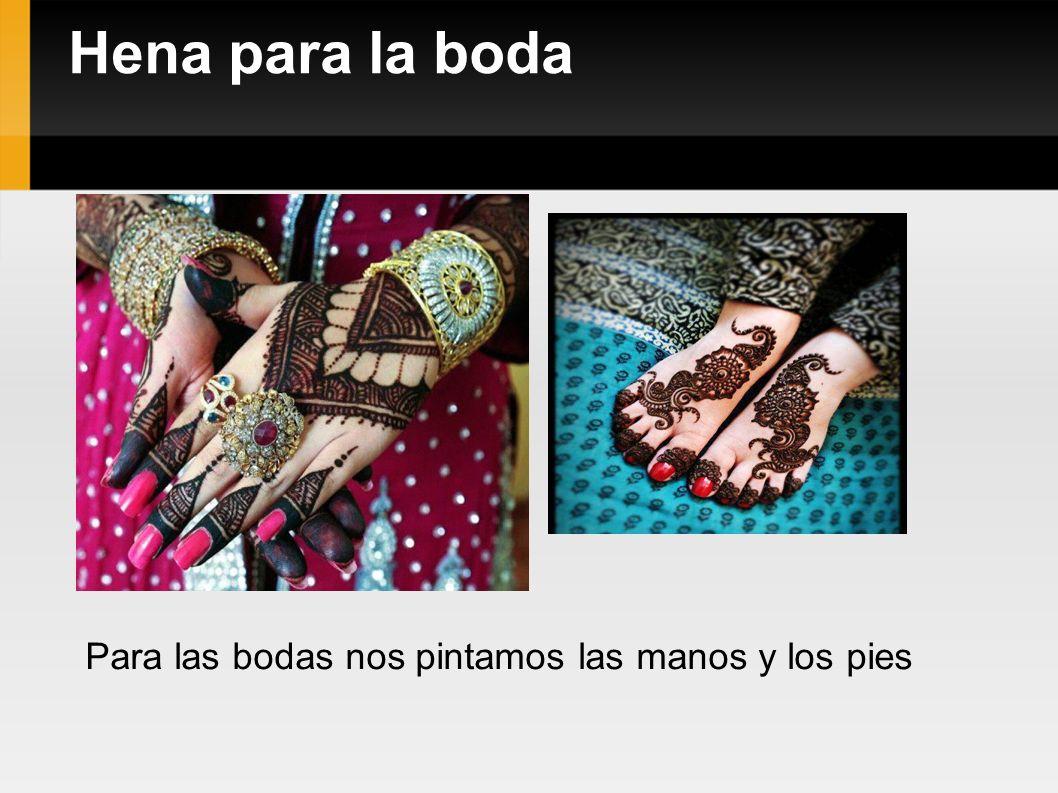 Hena para la boda Para las bodas nos pintamos las manos y los pies