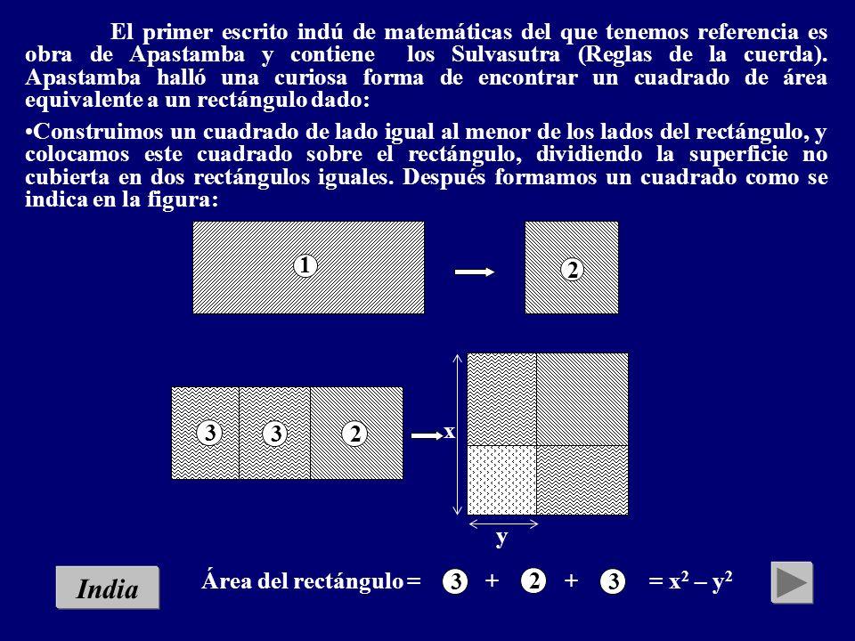 Menú Historia de Lilavati Cuadratura del rectángulo (Apastamba) El enjambre de abejas (A Lilavati de Baskara) Problema geométrico (Baskara) El arte de