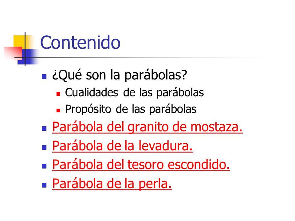 Propósito de las parábolas O sea, que para el que ha cerrado su corazón a la Palabra, no hace diferencia si se le habla en parábolas o no.