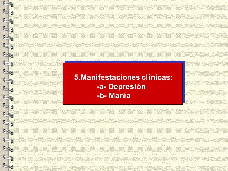 Trastornos del estado de ánimo inducido por sustancias Relacionadas con la depresión: -Inhibidores de la enzima convertidora de la angiotensina -Bloqu