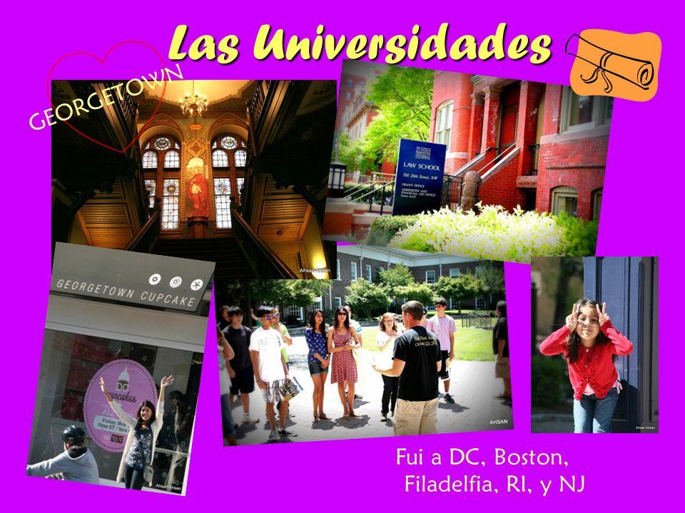 Las Universidades Fui a DC, Boston, Filadelfia, RI, y NJ GEORGETOWN
