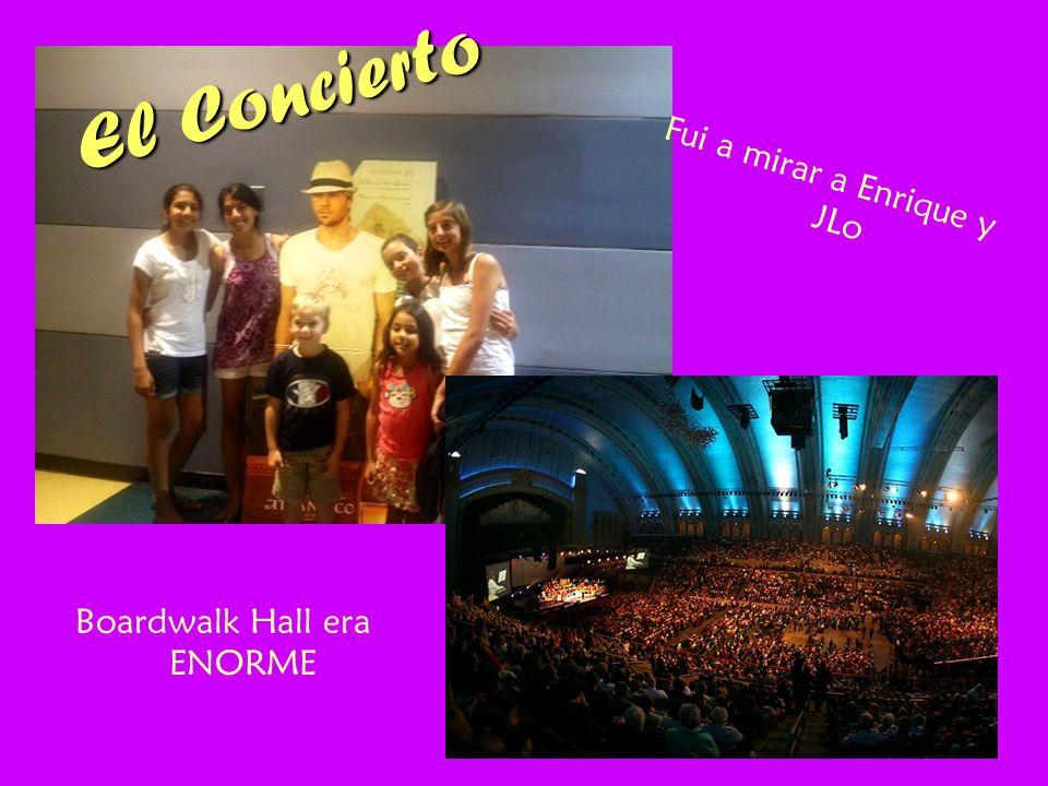 El Concierto Fui a mirar a Enrique y JLo Boardwalk Hall era ENORME