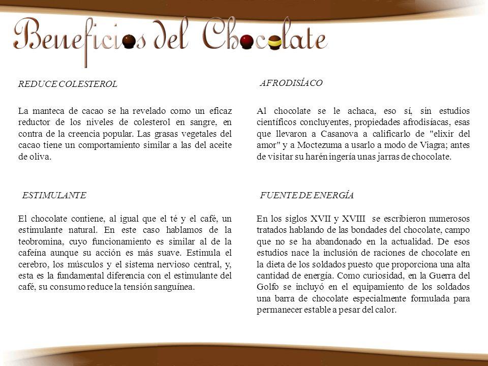 La manteca de cacao se ha revelado como un eficaz reductor de los niveles de colesterol en sangre, en contra de la creencia popular. Las grasas vegeta