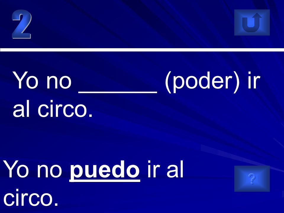 Paco y yo podemos asistir al concierto. Paco y yo ______ (poder) asistir al concierto.