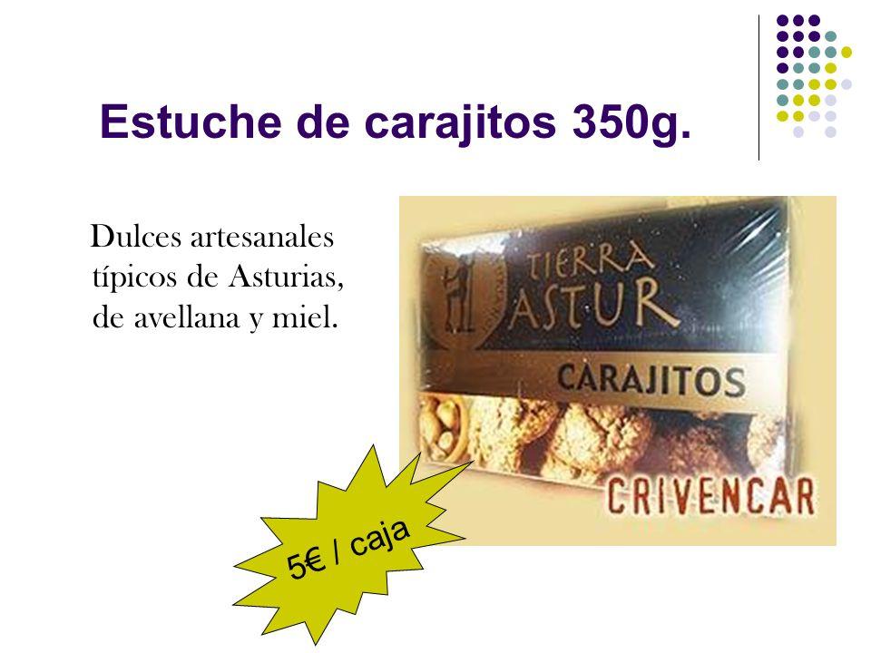 Estuche de carajitos 350g. Dulces artesanales típicos de Asturias, de avellana y miel. 5 / caja