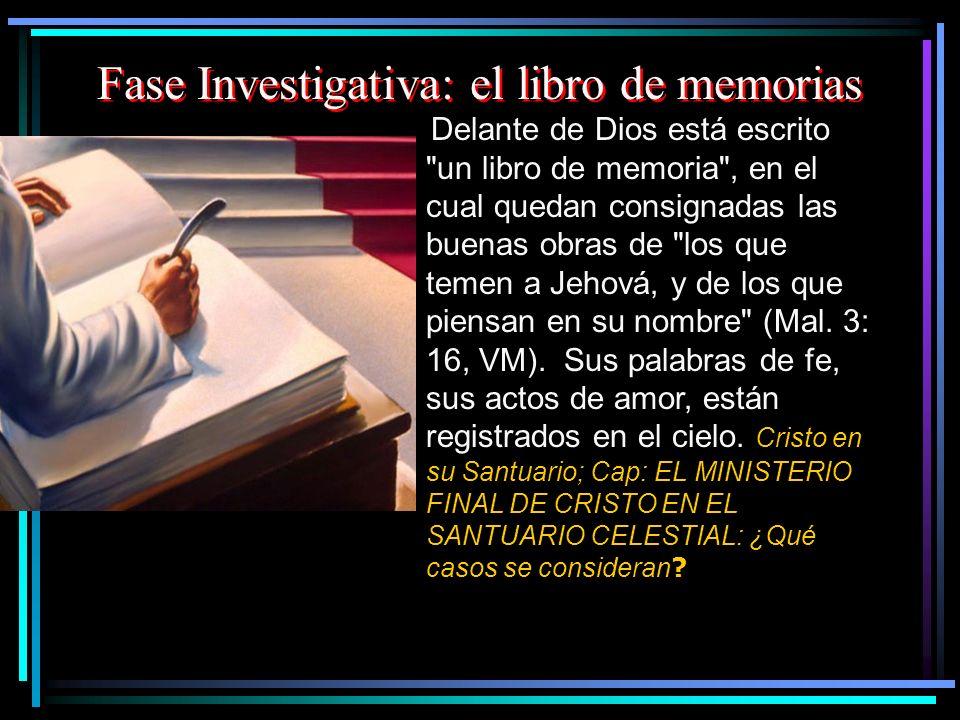 Fase Investigativa: el libro de memorias Delante de Dios está escrito