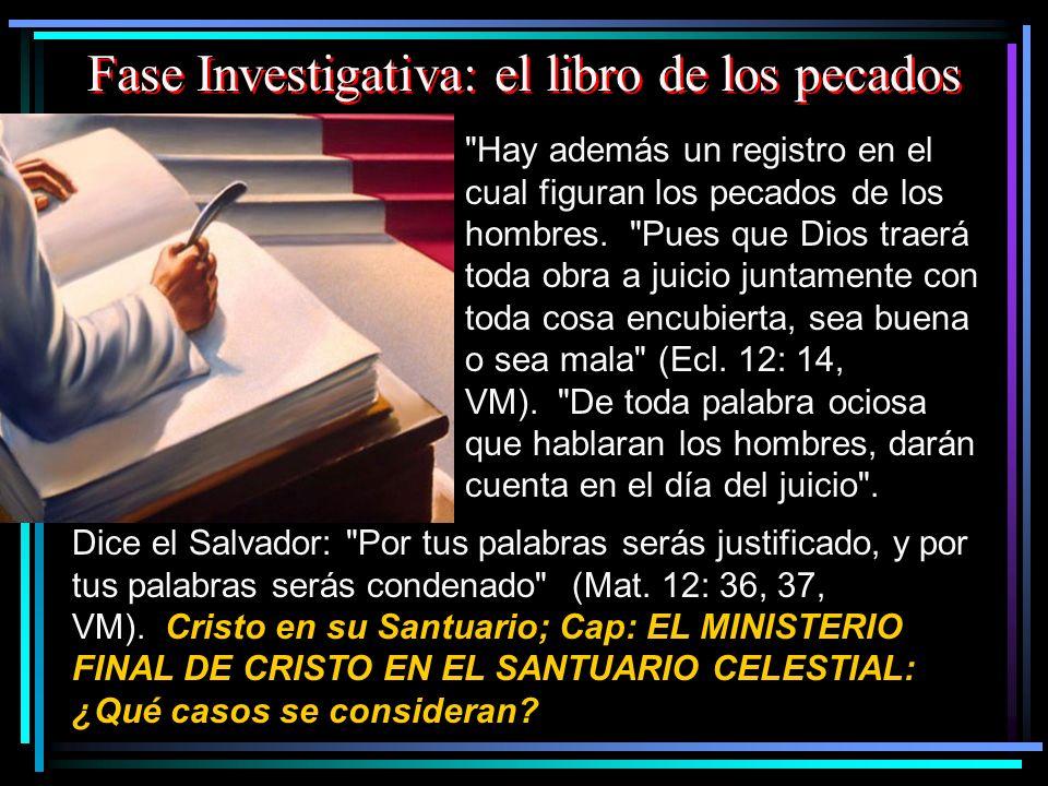 Fase Investigativa: el libro de los pecados