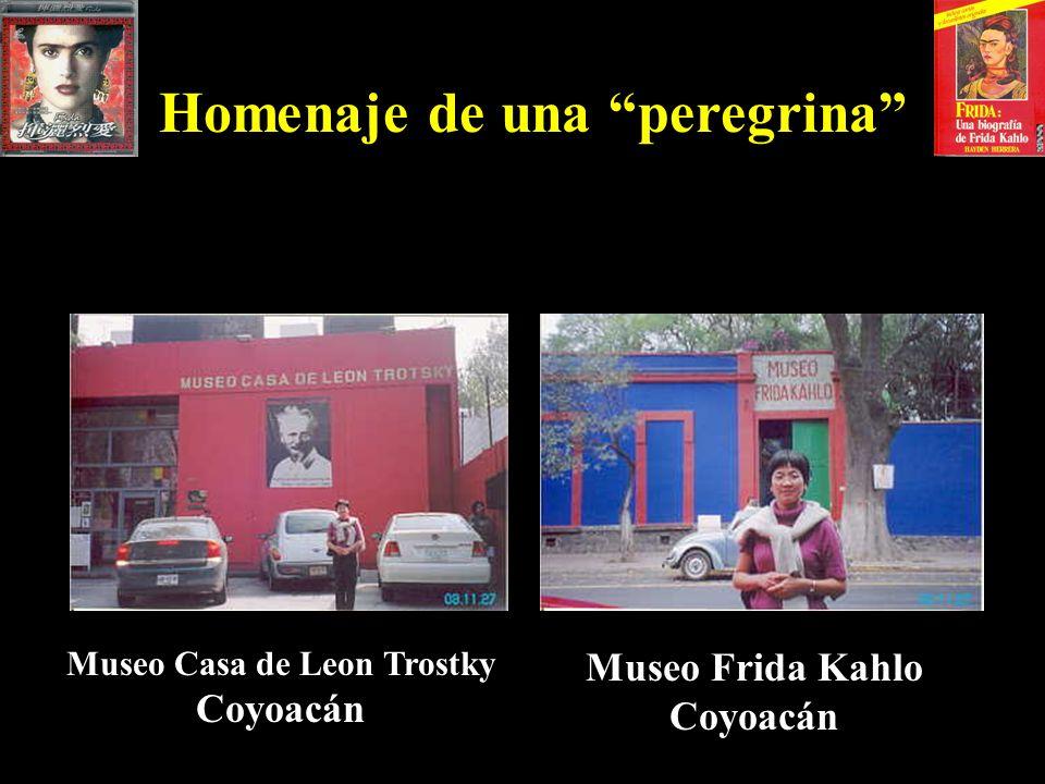 Homenaje de una peregrina Museo Casa de Leon Trostky Coyoacán Museo Frida Kahlo Coyoacán