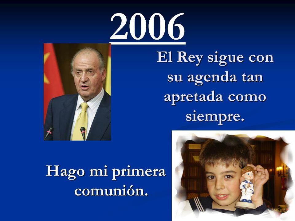 Nace su nieta: hija de los príncipes de Asturias. Lo celebré con mucha alegría, iba a ser mi futura reina. 2005