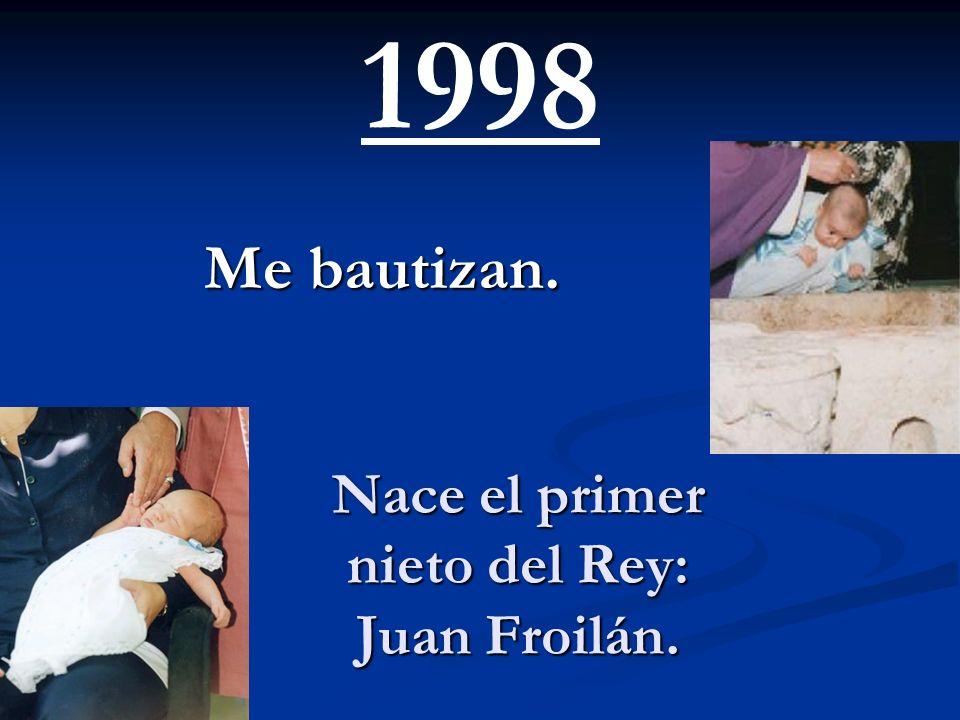 Su hija, la infanta Cristina e Iñaki Urdangarín contraen matrimonio en Barcelona. Nazco yo. 1997