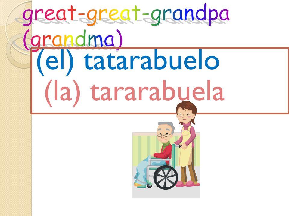 (el) tatarabuelo (la) tararabuela