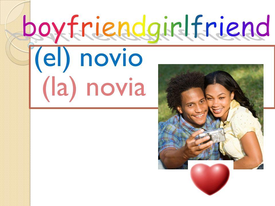 (el) novio (la) novia