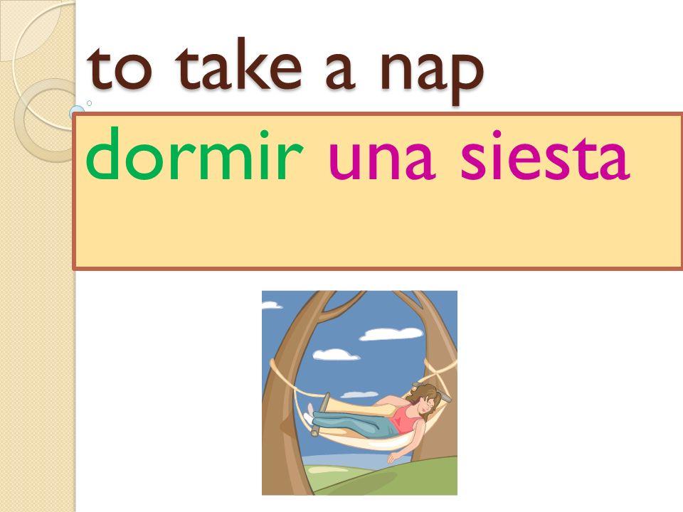 to take a nap dormir una siesta