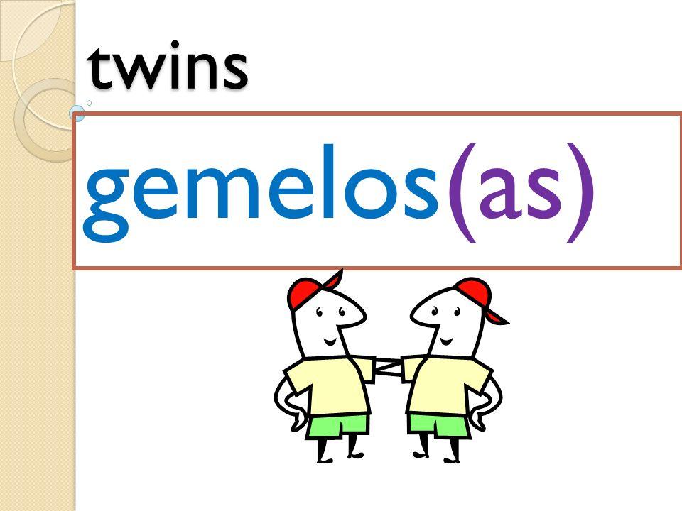 twins gemelos(as)