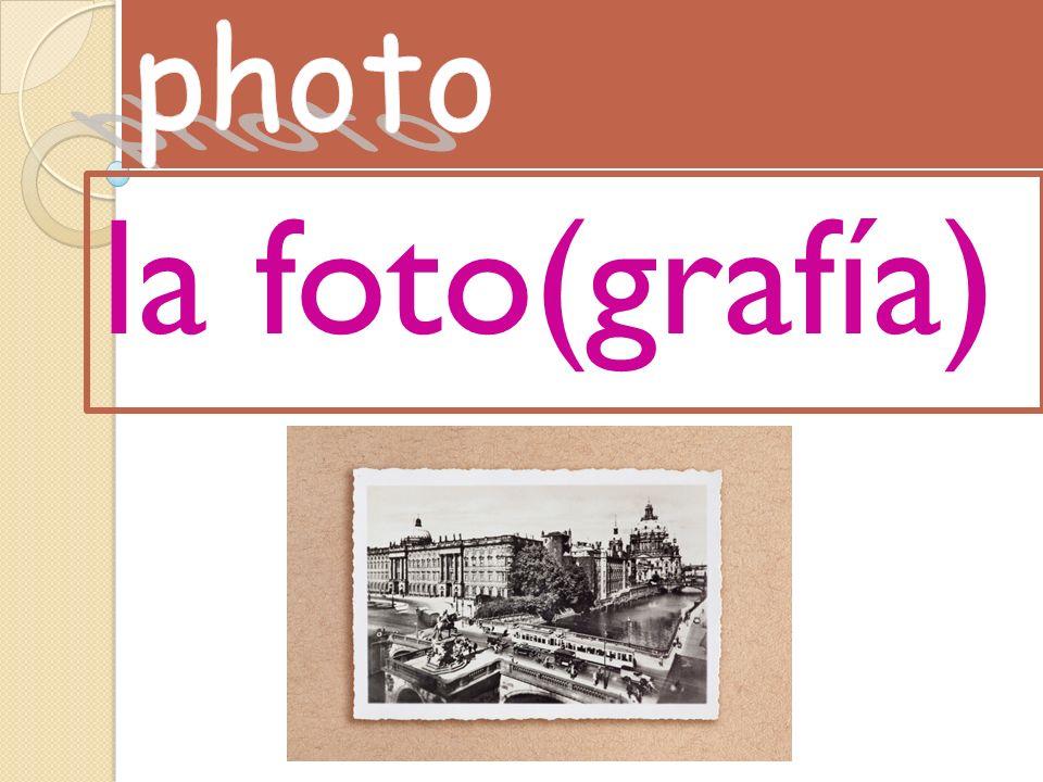 la foto(grafía)