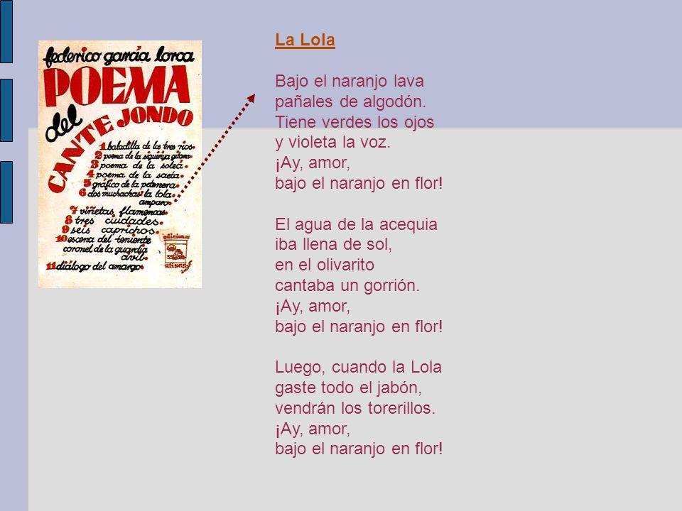 OBRAS Bodas de sangre Poeta en Nueva York La casa de Bernarda Alba La zapatera prodigiosa Romancero gitano El maleficio de la mariposa La niña que rie