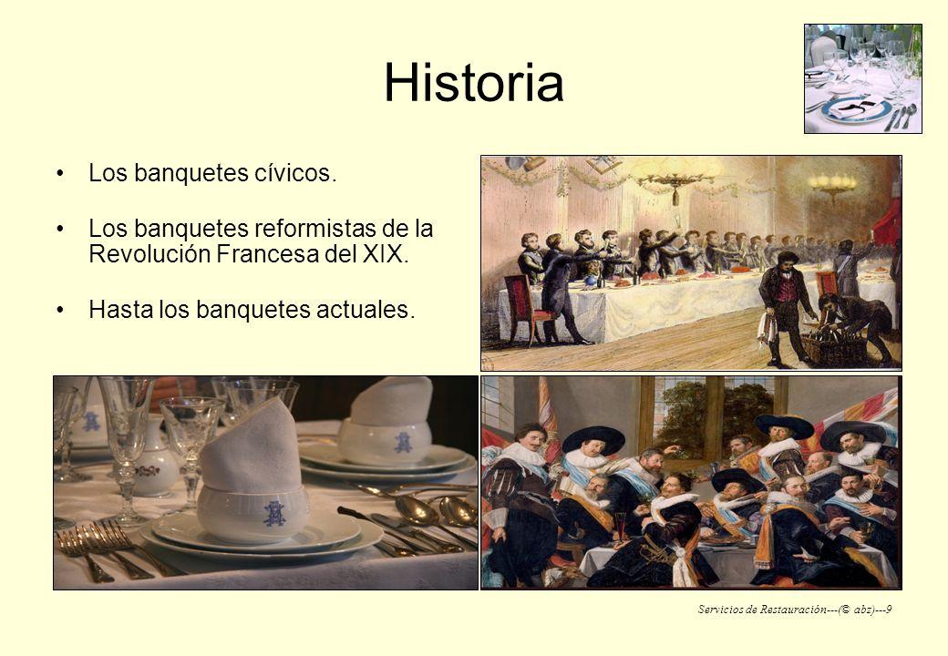 Servicios de Restauración---(© abz)---9 Historia Los banquetes cívicos. Los banquetes reformistas de la Revolución Francesa del XIX. Hasta los banquet