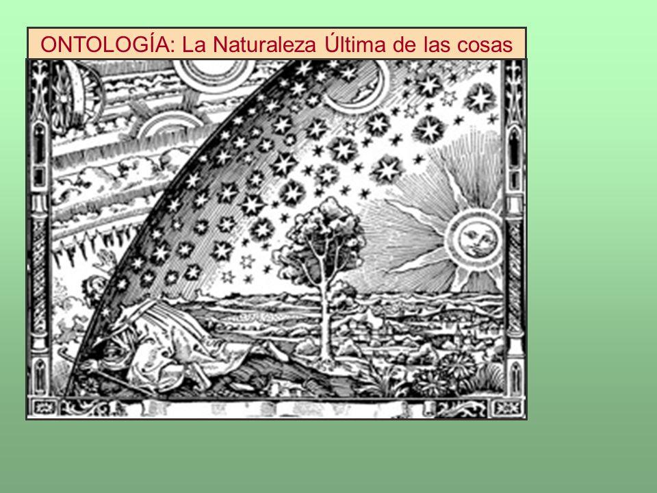 ONTOLOGÍA: La Naturaleza Última de las cosas