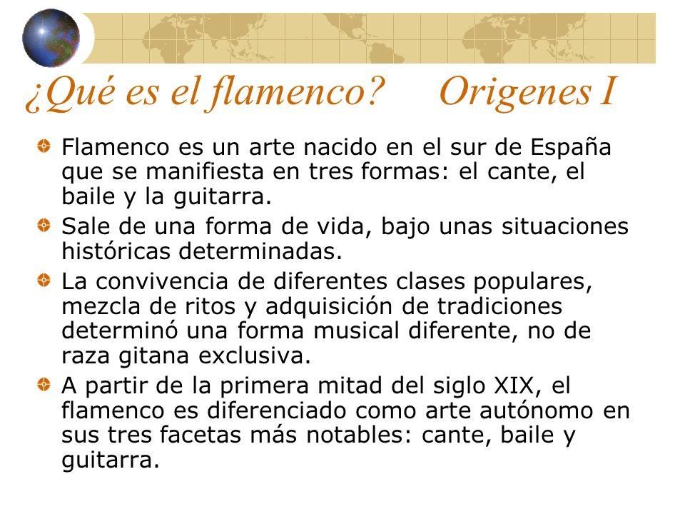 ¿Qué es el flamenco? Origenes I Flamenco es un arte nacido en el sur de España que se manifiesta en tres formas: el cante, el baile y la guitarra. Sal
