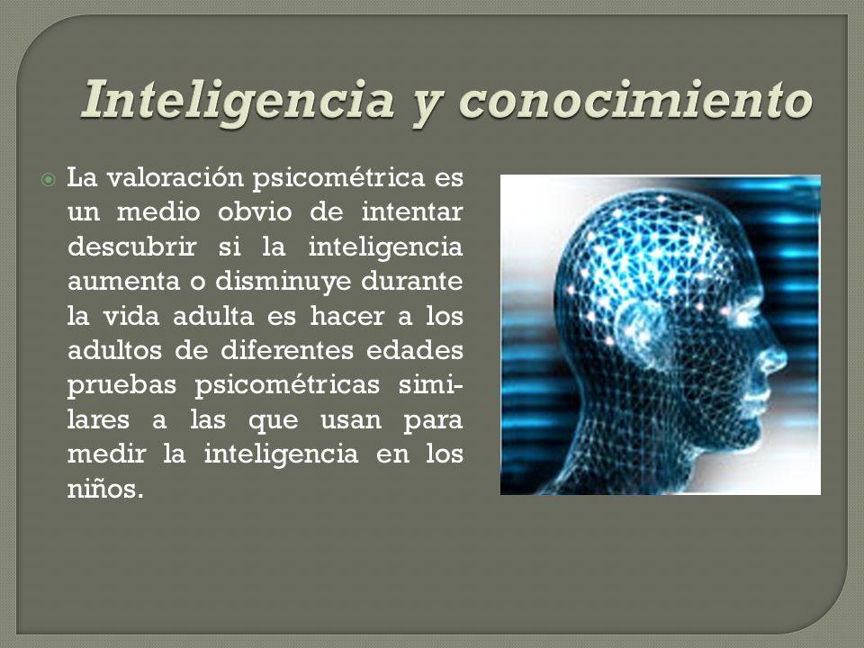 La valoración psicométrica es un medio obvio de intentar descubrir si la inteligencia aumenta o disminuye durante la vida adulta es hacer a los adulto