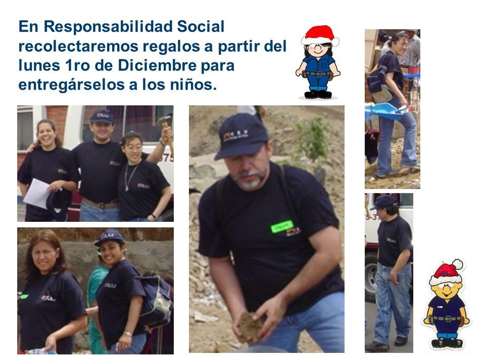 En Responsabilidad Social recolectaremos regalos a partir del lunes 1ro de Diciembre para entregárselos a los niños.