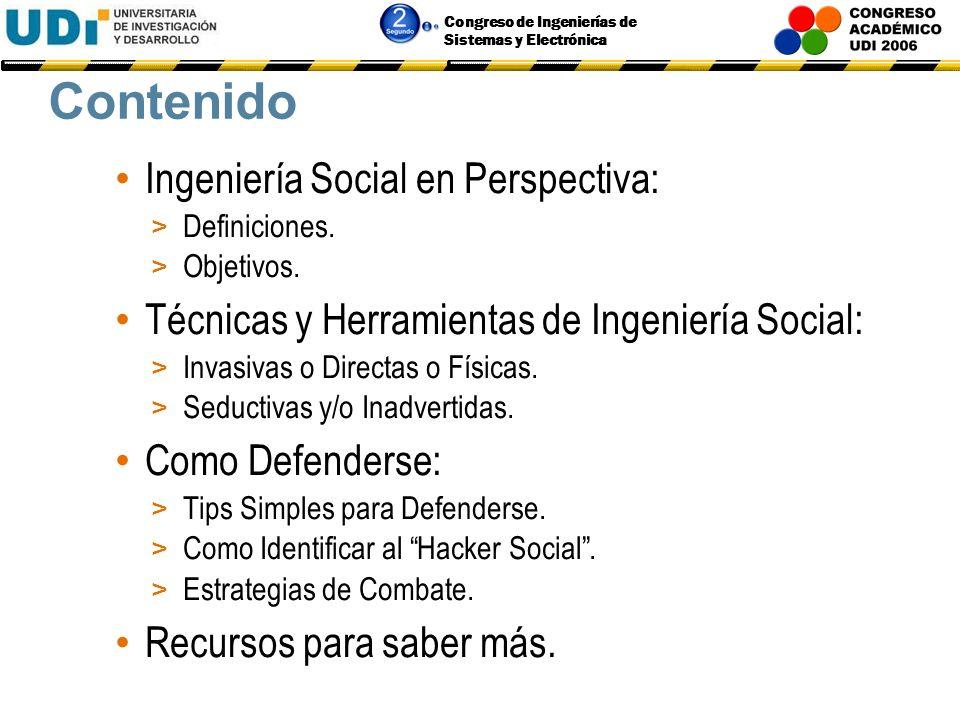 Congreso de Ingenierías de Sistemas y Electrónica INGENIERÍA SOCIAL PARA NO CREYENTES Carlos A. Biscione Consultor Senior T.I.