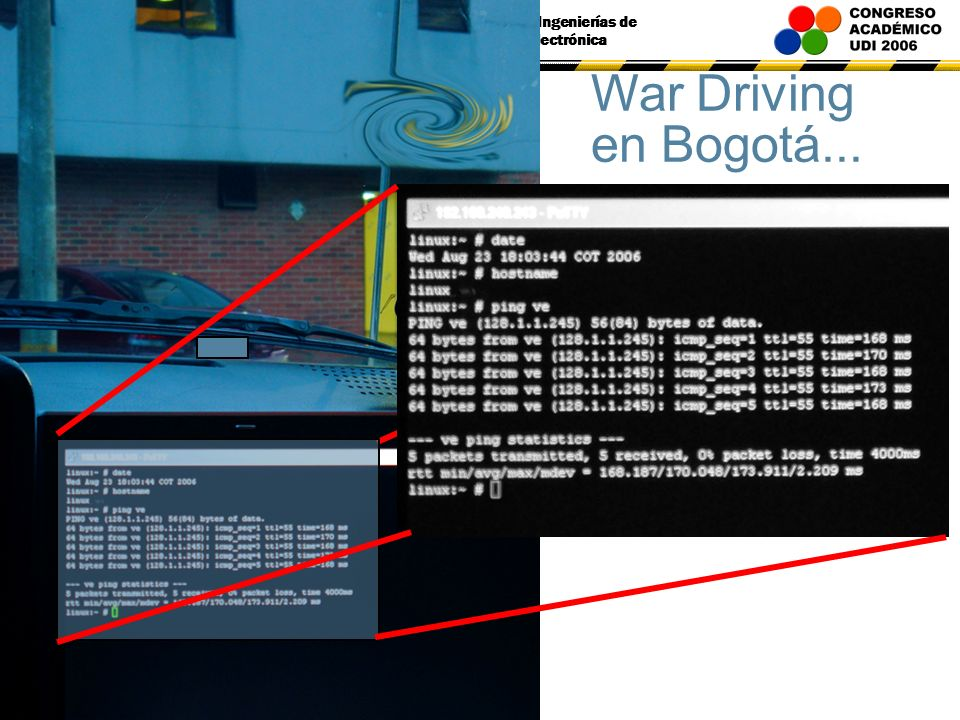Congreso de Ingenierías de Sistemas y Electrónica War Driving en Bogotá...