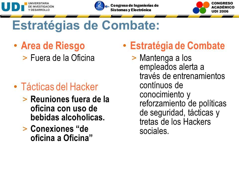Congreso de Ingenierías de Sistemas y Electrónica Estratégias de Combate: Area de Riesgo > La Basura Estratégia de Combate > Mantenga toda la basura e