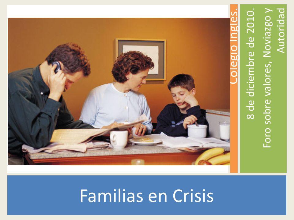 Familias en Crisis Colegio Inglés. 8 de diciembre de 2010. Foro sobre valores, Noviazgo y Autoridad