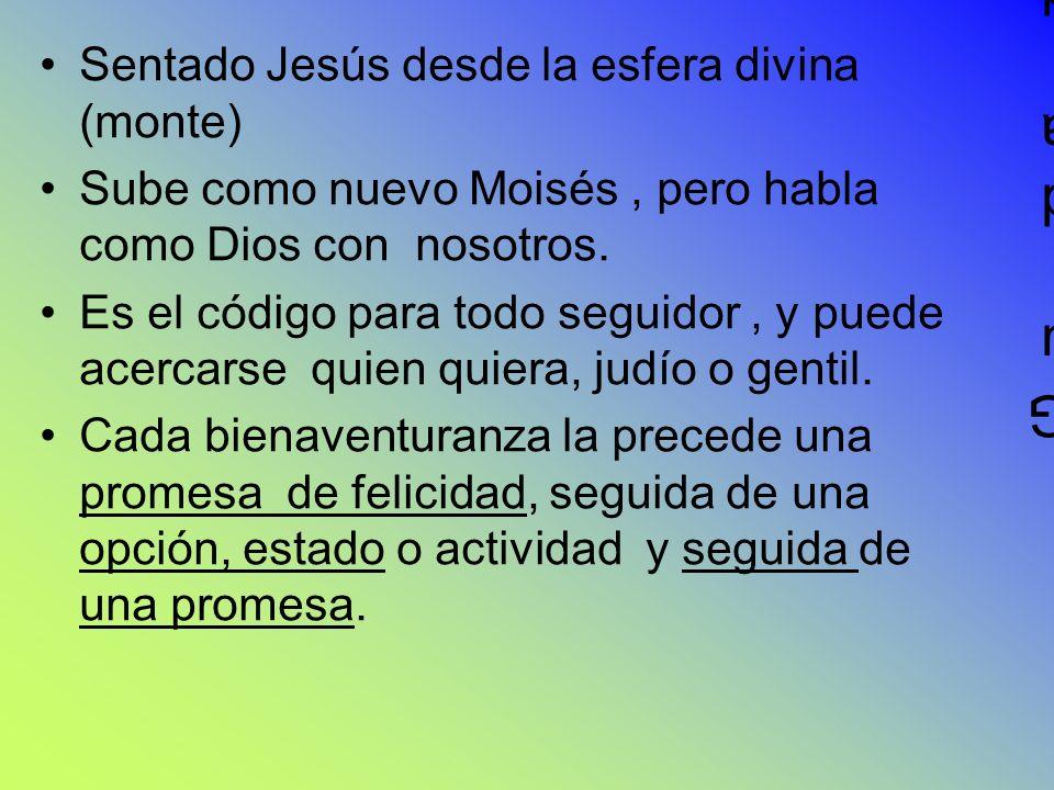Guida de una Guida de una Sentado Jesús desde la esfera divina (monte) Sube como nuevo Moisés, pero habla como Dios con nosotros. Es el código para to