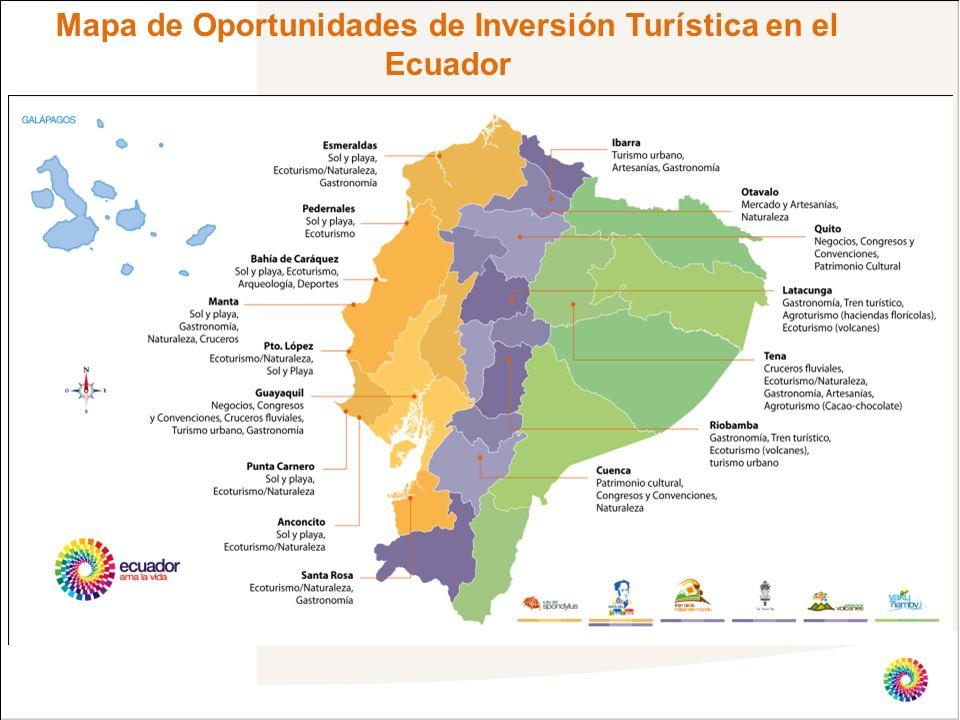 Mapa de Oportunidades de Inversión Turística en el Ecuador