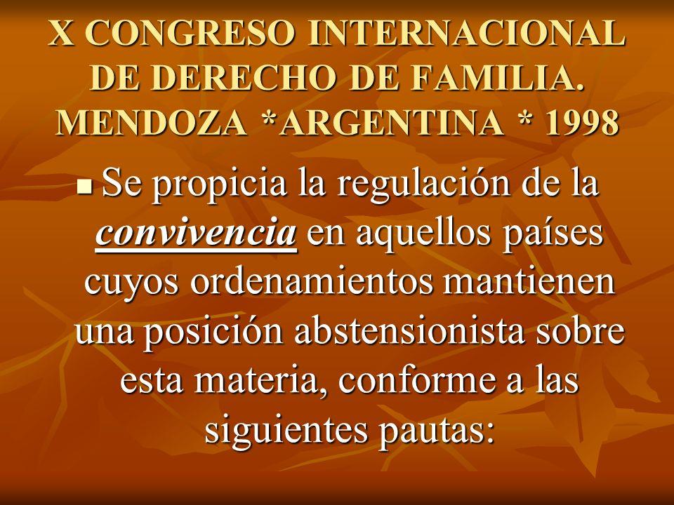 X CONGRESO INTERNACIONAL DE DERECHO DE FAMILIA.