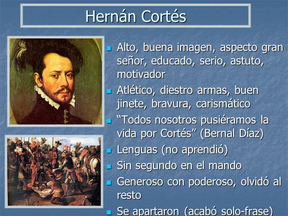 Hernán Cortés Alto, buena imagen, aspecto gran señor, educado, serio, astuto, motivador Alto, buena imagen, aspecto gran señor, educado, serio, astuto