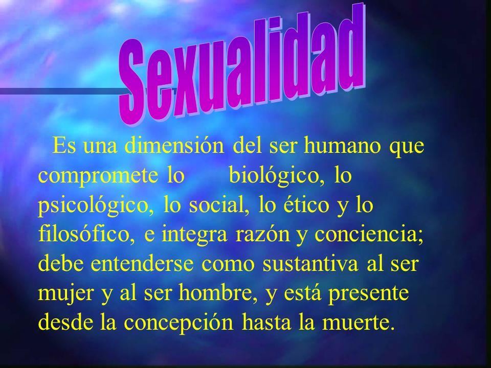 Se entiende por sexualidad,algo distinto para cada persona,sus actitudes frente al sexo y con el sexo, y el cumplimiento de nuestro papel tanto como hombre o mujer.