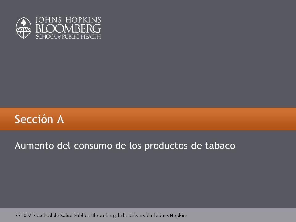 2007 Facultad de Salud Pública Bloomberg de la Universidad Johns Hopkins Sección A Aumento del consumo de los productos de tabaco