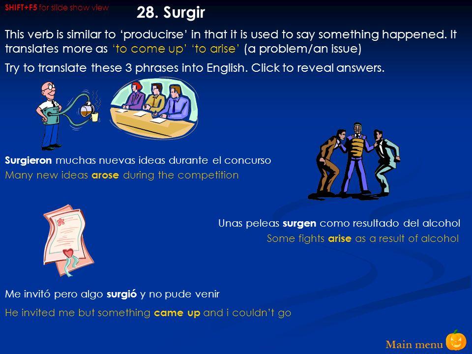 Main menu 27.