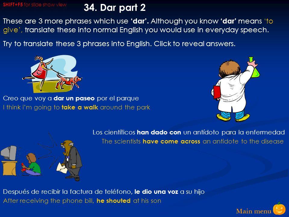 Main menu 33.