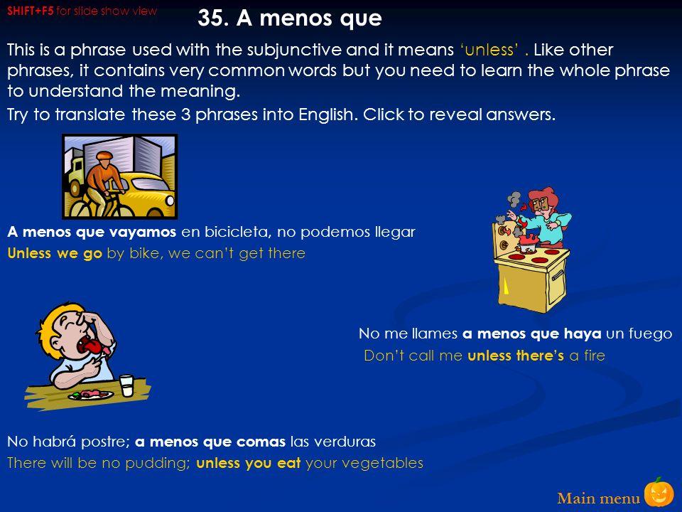 Main menu 34.