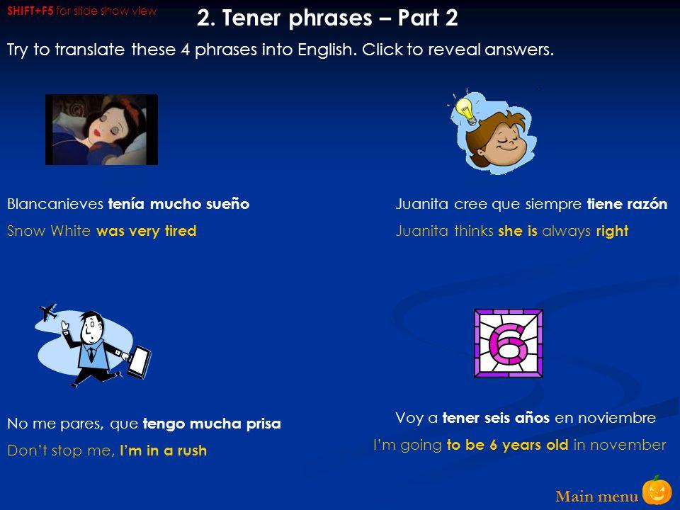 Main menu 2.