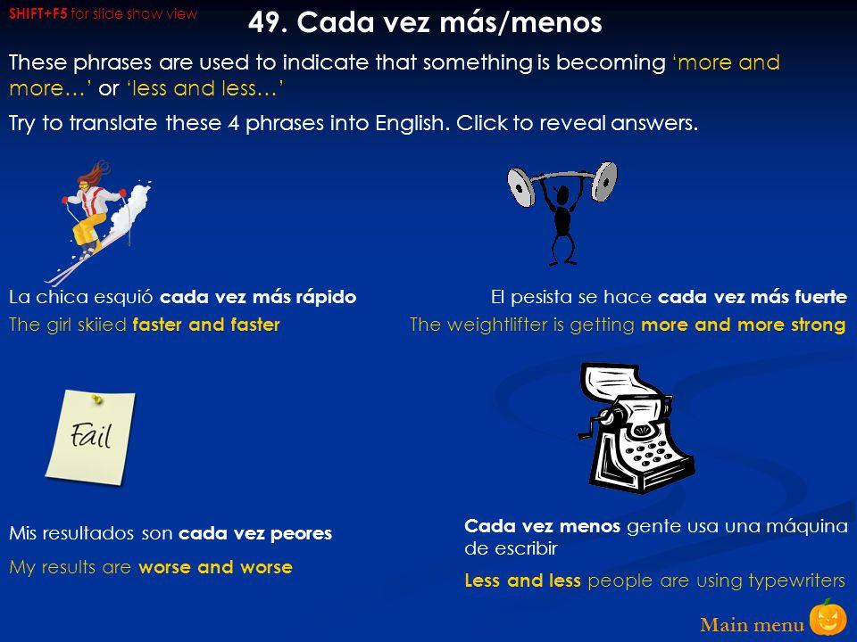 Main menu 48.