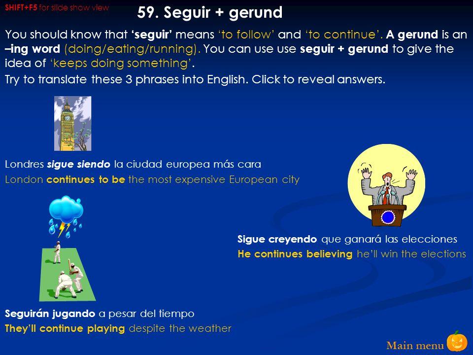 Main menu 58.
