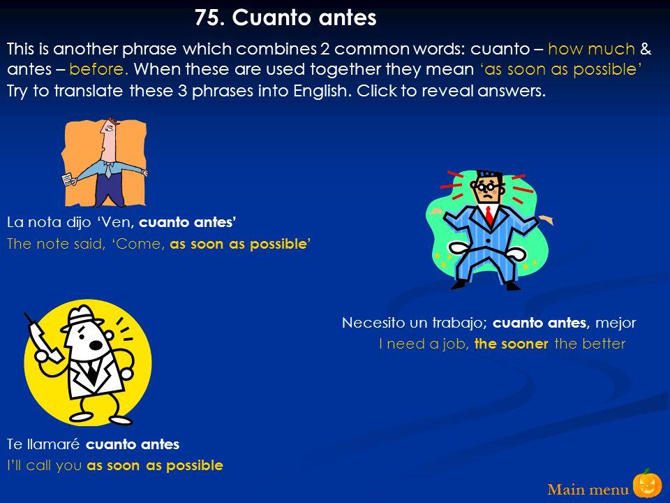 Main menu 74.