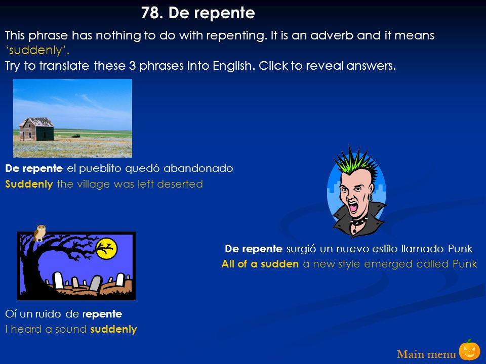 Main menu 77.