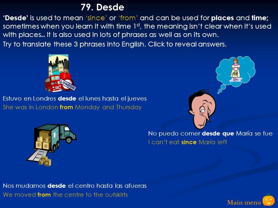 Main menu 78.